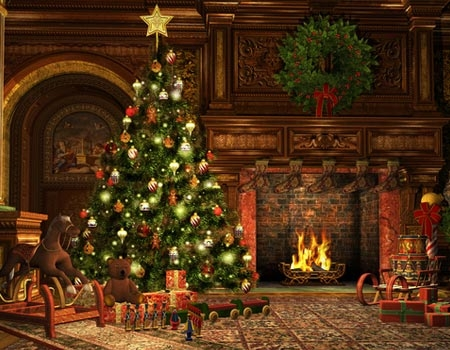 Déco sapin de Noël Vintage