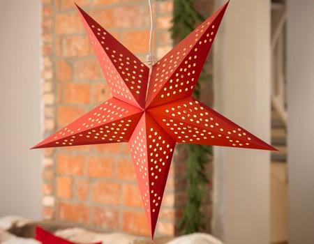 Etoile Lumineuse De Noel En Papier à Suspendre Ou Sur Pied