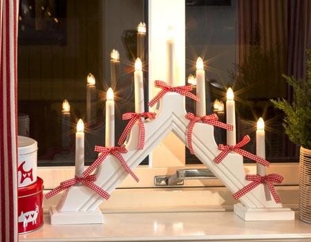 Chandeliers de Noël à 7 branches