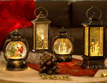 Lanternes à neige à LED