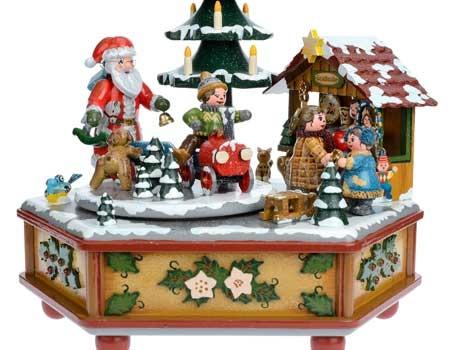Boite a musique enfant et CD chants de Noël