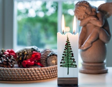 Bougies de Noël et accessoires