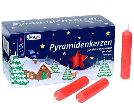 Bougies pour manège de Noël et pyramide allemande