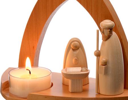 Bougies chauffe-plats pour photophore de Noël