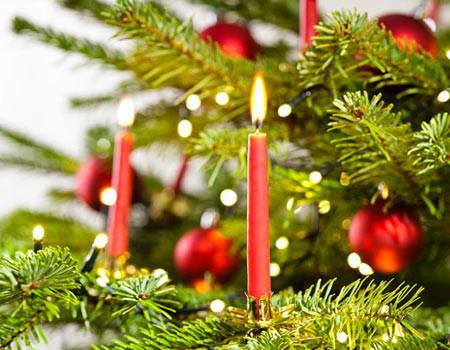 Bougies pour sapin de Noël