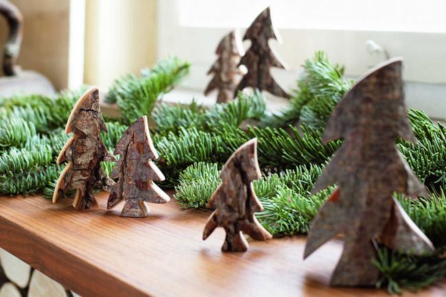 décorations en bois pour sapins de Noel