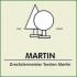 Martin, figurine chat en bois